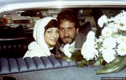 Día de la boda Gloria y Emilio. Se casaron el 1 de septiembre de 1978 en Miami. Emilio tenía 25 años y Gloria tenía 20 años.