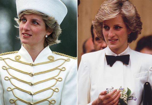Princesa Diana con algunos uniforme de la moda