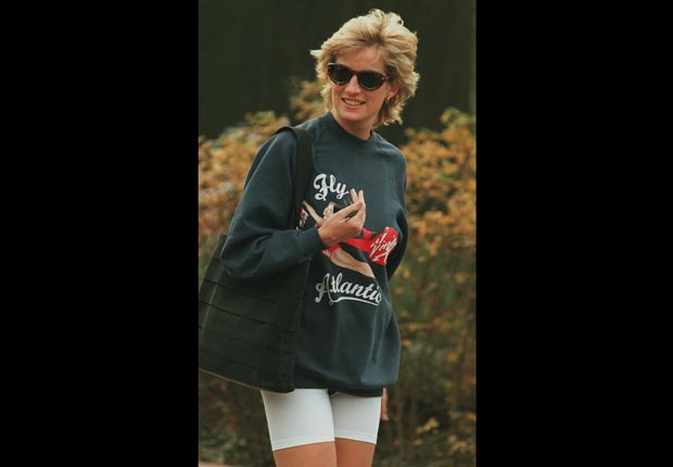 Princes Diana, workout clothes (Andrew Murray/Sygma/Corbis)