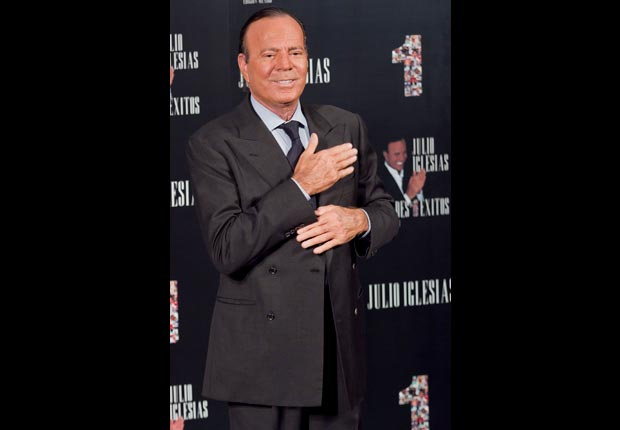 Julio Iglesias poses during a press conference to present his new album on May 8, 2013 in Mexico City, Mexico. (Luis Ortiz/LatinContent/Getty Images)