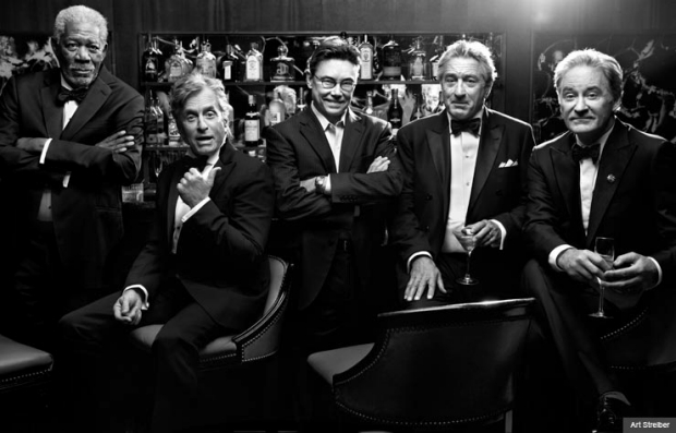 Last Vegas: Morgan Freeman, Michael Douglas, Kevin Kline & Robert De Niro (Art Streiber)