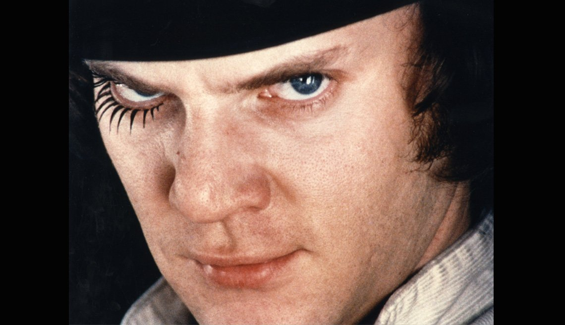 A Clockwork Orange Starring Malcolm McDowell, AARP Entertainment, Essential Boomer Movies