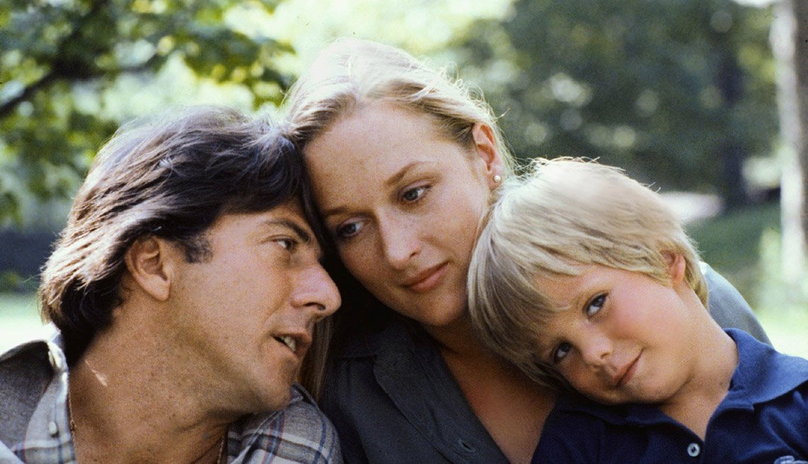 Movie Still From Kramer Versus Kramer, Actors Dustin Hoffman, Meryl Streep And Justin Henry, AARP Entertainment, Essential Boomer Movies