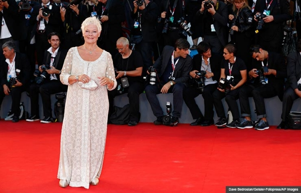 Judi Dench arrives at the Philomena premiere. (Dave Bedrosian/Geisler-Fotopress/AP Images)