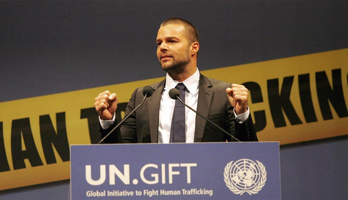 Ricky Martin - Famosos y humanitarios