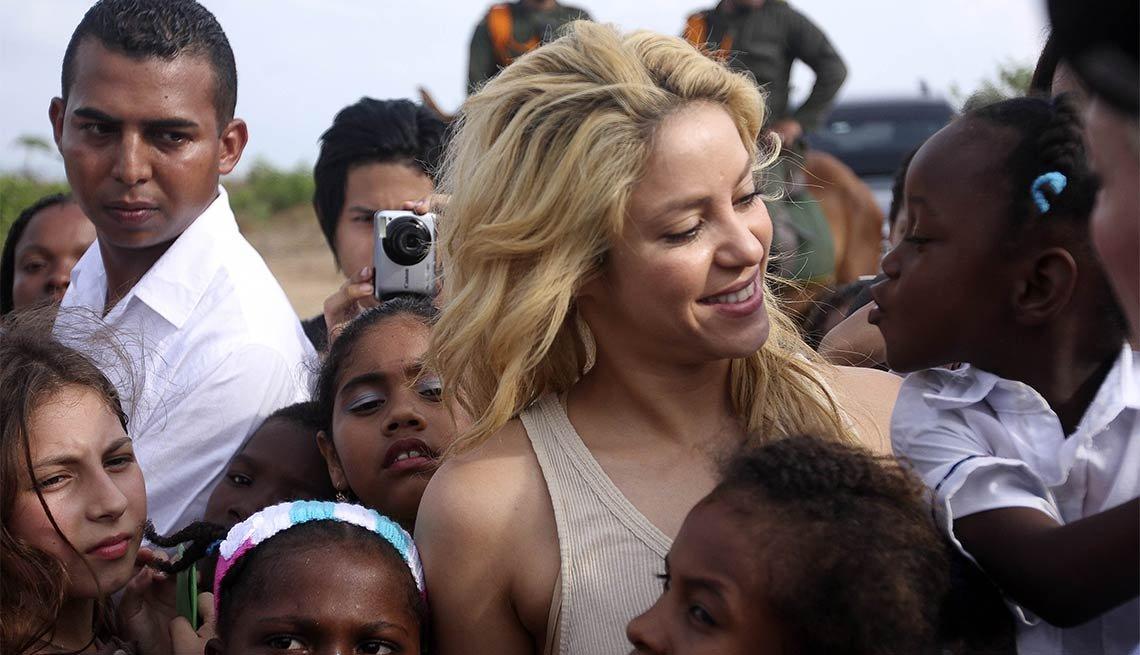 Humanitarian Celebrities, Shakira