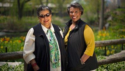 Grannies on Safari television hosts Pat Johnson and Regina Fraser