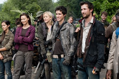 The cast of Falling Skies, a new series premiering on TNT