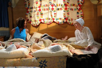 Wendy Malick and Betty White in a scene from Hot in Cleveland on TVLand.