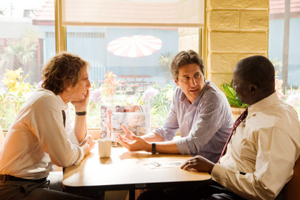 From Left to Right: Scott Bakula, Ray Romano, and Andre Braugher in the television series Men of a Certain Age