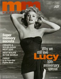 Lucille Ball en la portada de la revista Modern Maturity de AARP
