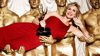 Jane Lynch hosting the Emmy awards