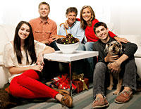 Meredith Vieira recently of the Today Show with her family
