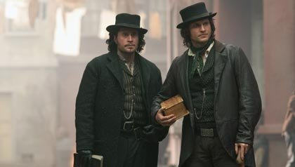 Tom Weston-Jones as Detective Kevin Corcoran and Kevin Ryan as Francis Maguire in BBC America's