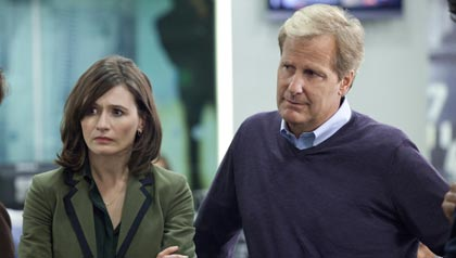 "Emily Mortimer and Jeff Daniels in HBO's ""The Newsroom"""