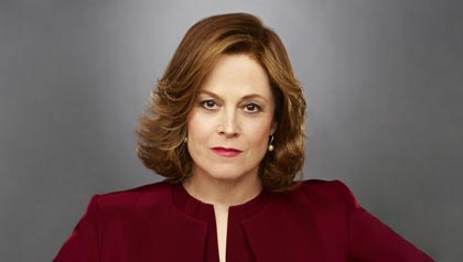 "Sigourney Weaver as Elaine Barrish in USA's ""Political Animals"""