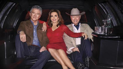 Larry Hagman, Linda Gray, Patrick Duffy, TNT, series, summer, dallas, tv, JR, Ewing, Southfork, family, bobby, Sue Ellen