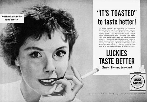 Lucky Strike's It's Toasted advertisement for the Real Ads from the Real Mad Men slideshow.