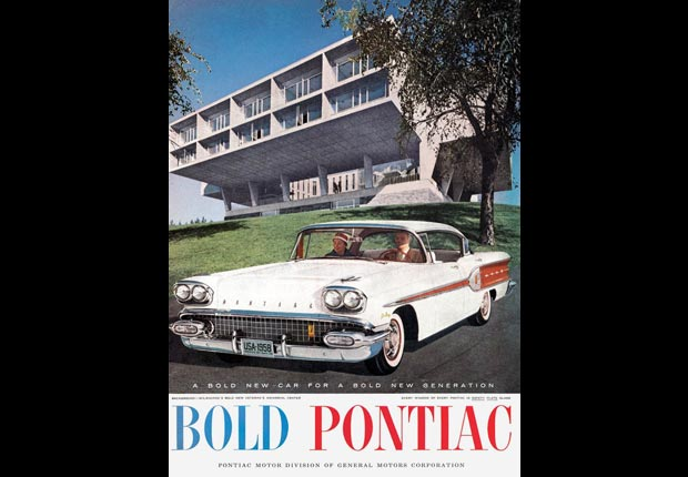 A Pontiac ad from the Mad Men era, for the Real Ads from the Real Mad Men slideshow.