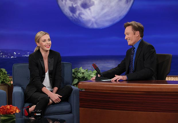 Conan O'Brien interviews Charlize Theron