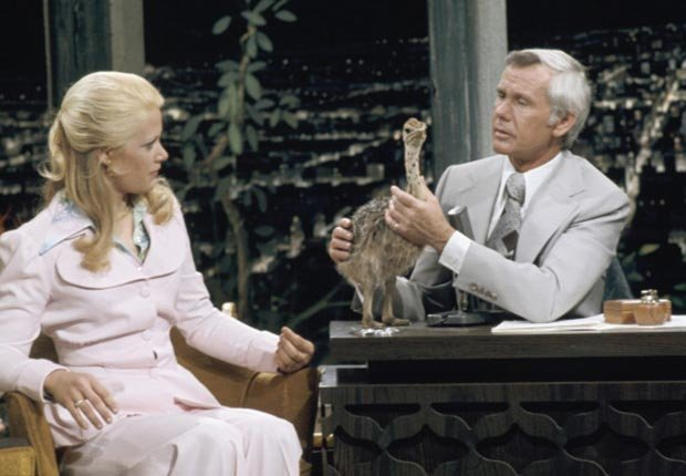 Animal expert Joan Embery during an interview with host Johnny Carson