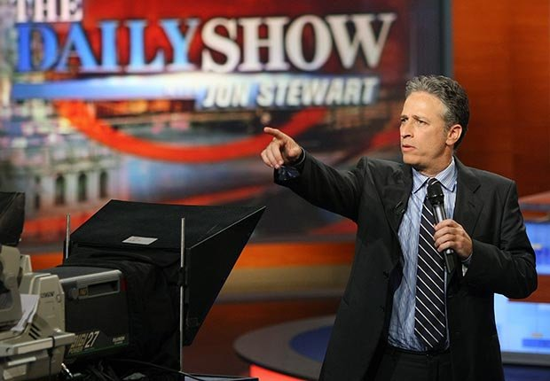 Jon Stewart of Comedy Central's The Daily Show with Jon Stewart