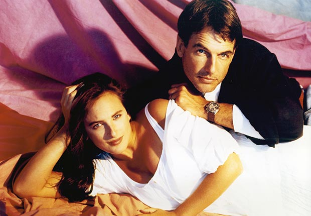 Marlee Matlin and Mark Harmon from the TV show Reasonable Doubts, which ran from 1991-1993. For Mark Harmon through the years slideshow.
