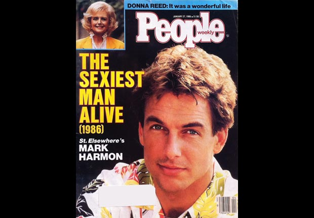 People Magazine declared Harmon the Sexiest Man Alive in 1986 during his time on St. Elsewhere.  For Mark Harmon through the years slideshow.