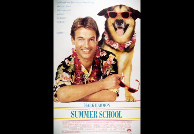 10-The poster for Summer School in 1987, which is still Mark Harmon's biggest box office hit. For Mark Harmon Through the Years slideshow.