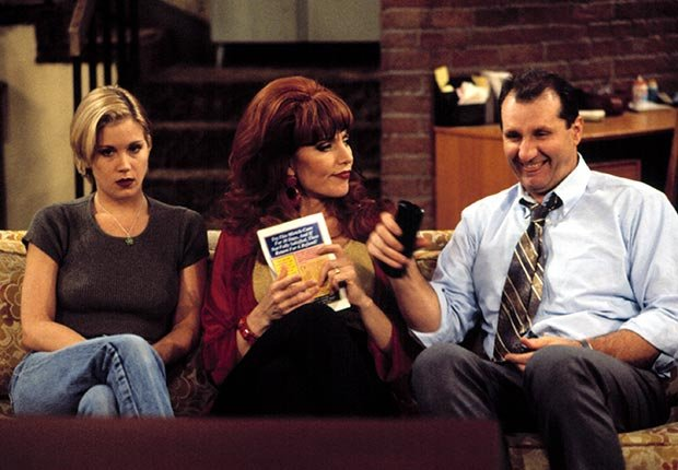 Christina Applegate, Katey Sagal and Ed O'Neill star in Married... With Children.