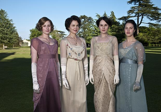 Laura Carmichael, Elizabeth McGovern, Michelle Dockery and Jessica Brown Findlay star in Downton Abbey