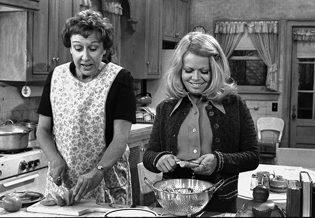 Jean Stapleton and Sally Struthers star in All in the Family.