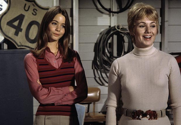 Susan Dey and Shirley Jones star in The Partridge Family.