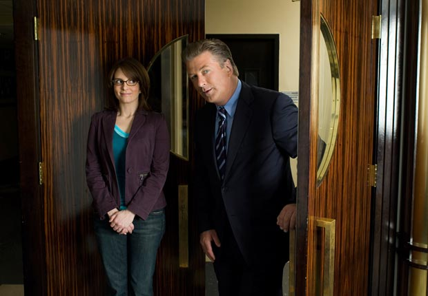 Alec Baldwin stars as Jack Donaghy and Tina Fey as Liz Lemon on the NBC show 30 Rock. For the Best Comedy Shows slide show.