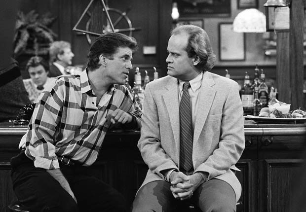 Kelsey Grammer and Ted Danson starred in the hit sitcom Cheers. For the Best Comedy Shows slide show.