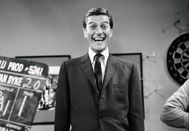 Comedian and actor Dick Van Dyke  while filming an episode of 'The Dick Van Dyke Show.' For the Best Comedy Shows slide show.