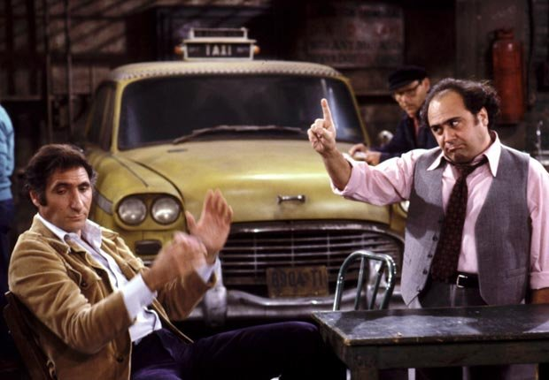 A scene from Taxi. The show ran from 1978-1983. For the Best Comedy Shows slide show.