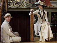 Hugh Bonneville and Elizabeth McGovern as the Earl and Countess Grantham in Downton Abbey