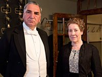 Jim Carter as Carson and Phyllis Logan as Mrs Hughes in Downton Abbey