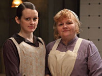 Sophie McShera and Lesley Nicole in Downton Abbey