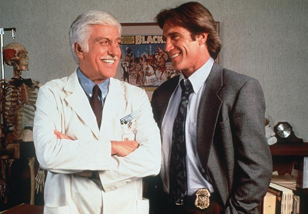 Dick Van Dyke and son Barry Van Dyke in Diagnosis Murder.