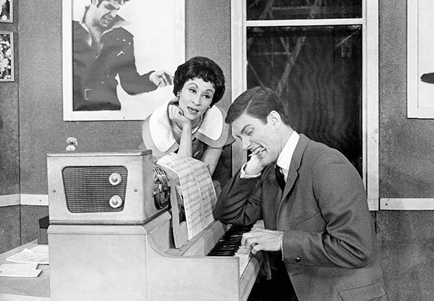 Chita Rivera and Dick Van Dyke in Bye Bye Birdie on Broadway