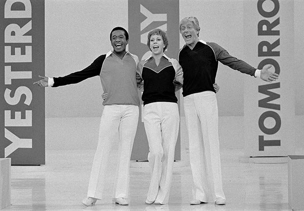 Ben Vereen, Carol Burnett, and Dick Van Dyke performing on The Carol Burnett Show, 1977.