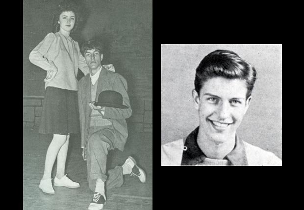 Dick Van Dyke rehearsing for the 1941 Moments Musical at Danville High School.