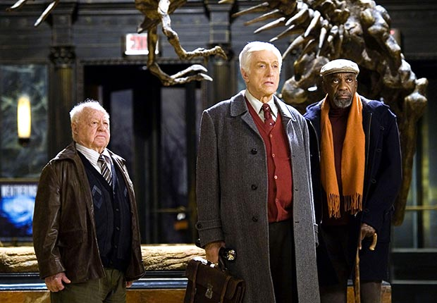 Mickey Rooney, Dick Van Dyke, and Bill Cobbs in Night at the Museum, 2006.