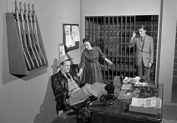 Dick Van Dyke, George C. Scott, and Teresa Wright; US Steel Hour, 1959