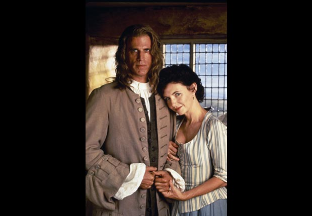 Ted Danson and Mary Steenburgen on the set of the made-for-television film Gulliver's Travels