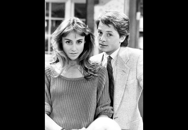 Tracy Pollan and Michael J. Fox on FAMILY TIES