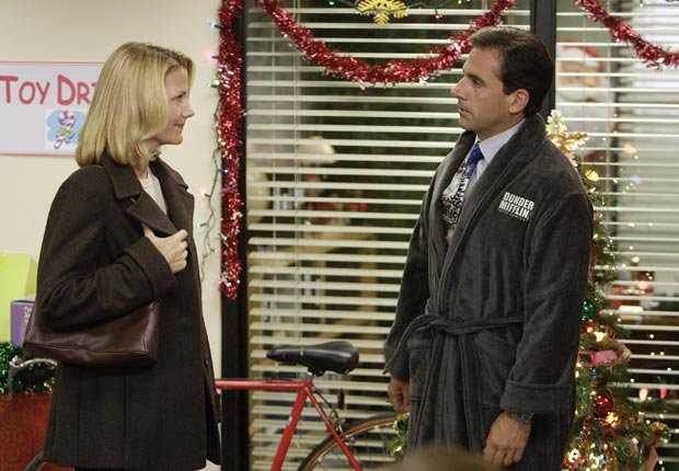 Nancy Walls as Carol Stills, Steve Carell as Michael Scott on THE OFFICE
