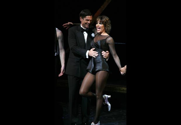 Opening Night Performance Curtain Call for Husband & Wife Team Lisa Rinna & Harry Hamlin in CHICAGO at the Ambassador Theater in New York City.